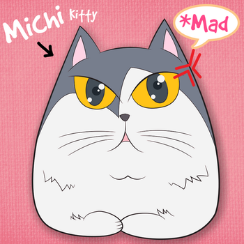 Angry Michi Kitty by Catifornia