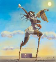 tribute to Salvator  Dali by marycry83