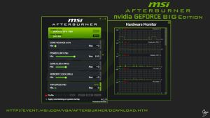 MSI Afterburner nVidia Flat Skin [BIG EDITION] by Grum-D