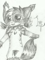 Lm Wolfloup But In Black And White by RedNoctali