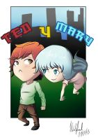 ted  y Mary by kronoshooko