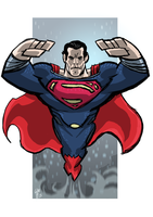 Superman Man of Steel Style by ElOctopodo