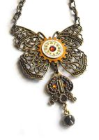 Filigree Butterfly Pendant, pic 2 by JLHilton