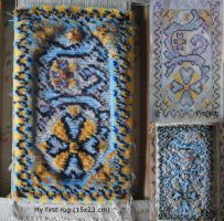 My first rug (15x23 cm) by LauraPex