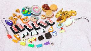 Polymer Clay Charms 6-16-13 by QueenNekoyasha