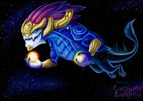 Aurelion sol by Lurking-Leanne
