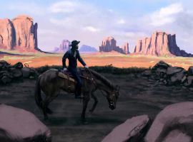 Lone rider by Hominid-9