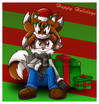 Merry Foxy Christmas by RecklessKaiser