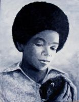Ben and Michael Jackson by Annie-Claudine
