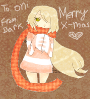 Merry Early X-mas Oni by DarknedStar