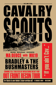 Cav Scout retro concert style poster by sublithium