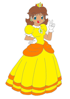 Princess Daisy colored lineart by Hero-of-Awesome by PrincessDaisyRocks10