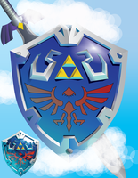 Skyward Sword Shield V2 by Mazetron