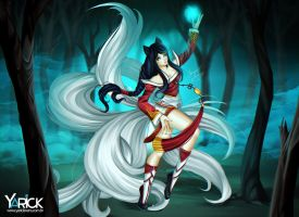 Ahri League Of Legends by YarickArt