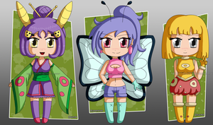 [CLOSED] ADOPTABLES Bug Pokemon gijinka by izka197