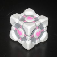 My sculpted Companion Cube (ON EBAY) by AleximusPrime