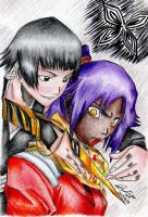 Soifon and Yoruichi by Bleach-Lovers