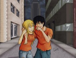 After the Fight! - Percy Jackson by Lady-Caro