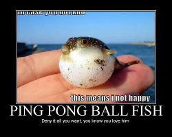ping pong ball fish by Necrossmon
