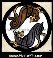 Yin Yang Dogs - Dobermans by Foxfeather248