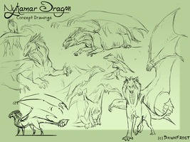 Nykamar concept sketches 2 by DawnFrost