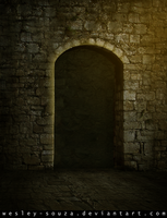 Medieval Gate ( yellow version ) by Wesley-Souza