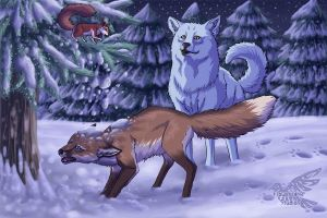 Fawna's Quest Winter '09 by Flowerlark