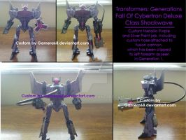 Custom Transformers Fall Of Cybertron Shockwave by gamera68