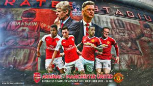ARSENAL - MANCHESTER UNITED WALLPAPER by jafarjeef
