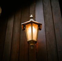 Lamp on Wood by davidliong