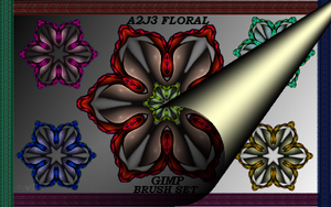 FLORAL GIMP BRUSH SET by a2j3