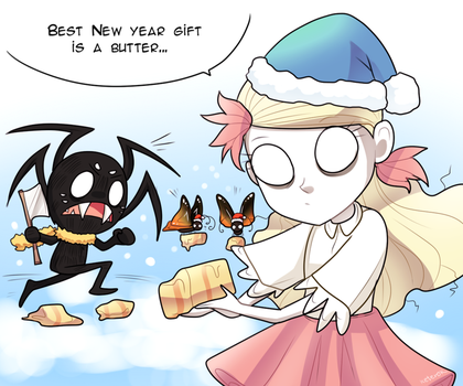 New Year postcard - Don't Starve by keterok