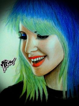 Hayley Williams with FC Colored Pencils by hellburned04