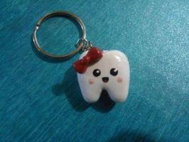 Kawaii cold porcelain tooth by Saloscraftshop