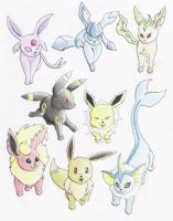 Eeveelutions by Lulabys-Melody