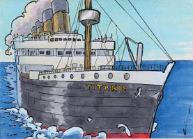 Titanic Commemorative Sketch Card (3) by GeekyWhiteGuy