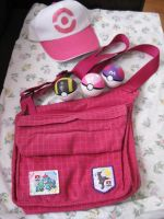 Pokemon Hilda Cosplay Bag, Pokeballs and Hat SOLD by DarkSaberCat