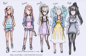Contest Reference 3, Outfits by LemiaCrescent