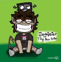 Darkiplier And Tiny Box Grim by sibbies