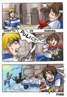 Cody VS Sakura by sofia-1989