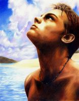 Leonardo DiCaprio in The Beach by shierly85