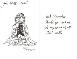 Get Well - Hoggle Card by Artist-Anika