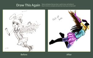 Before and After Drawing by SweetAveryMoon