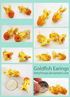 Goldfish Earings - SOLD OUT by Bittythings