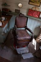 Old Barbers Chair by CNStock