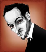 Caricature: Derren Brown 2 by Elusive-Angel