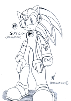 Sonic.EXE :MegaHog.EXE: by DarkCatSoul