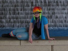 Rainbow Dash Human Type Cosplayer 2 by NocturnalRadiance