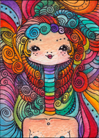 ACEO Card Design: Girl 1 by cellsdividing