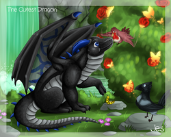 The Cutest Dragon - Jes by Kingfisher-Gryphon